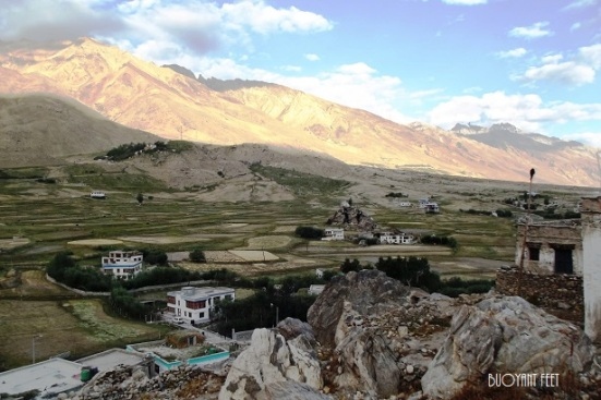 Sun-rise at Padum (only town and administrative centre in Zanskar)