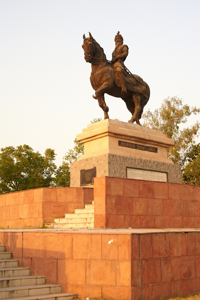 The statue of Maharaja Ranjit Singh outside its Museum in Amritsar