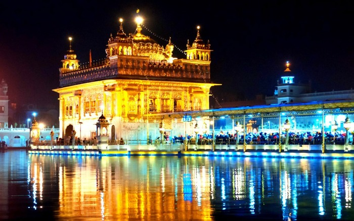 Golden Temple at night. Amritsar. India