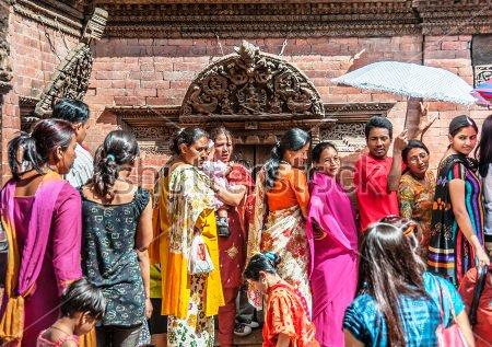 stock-photo-kathmandu-durbar-square-kumari-ghar-palace-september-nepali-hindus-buddhist-standing-592486604