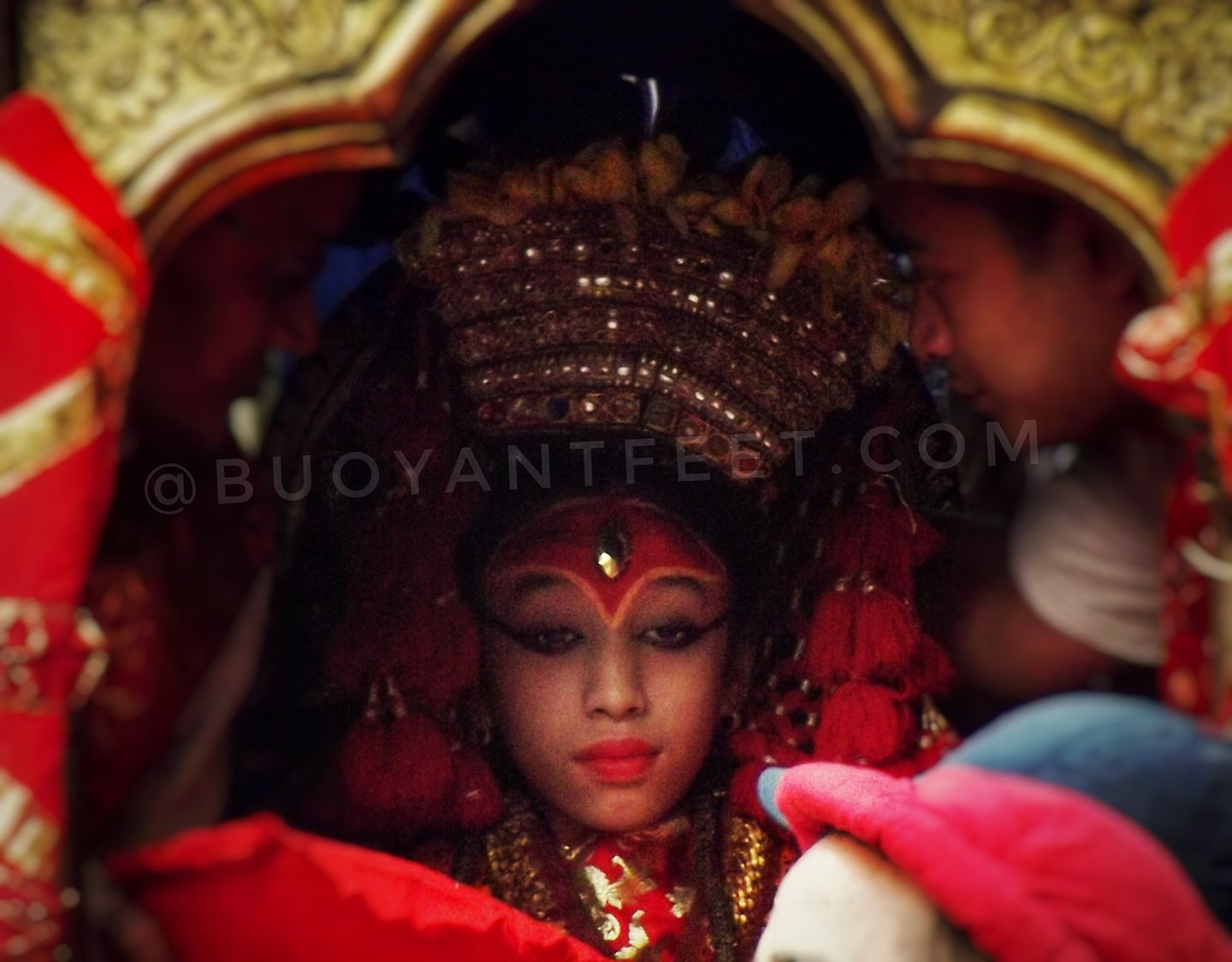 Then Kumari Goddess of Nepal during the chariot Jatra