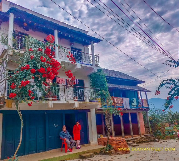 The gorgeous houses of the locals at the town of Bandipur