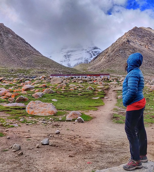 Looking at The Mighty Mount Kailash on Kailash Mansarovar Yatra