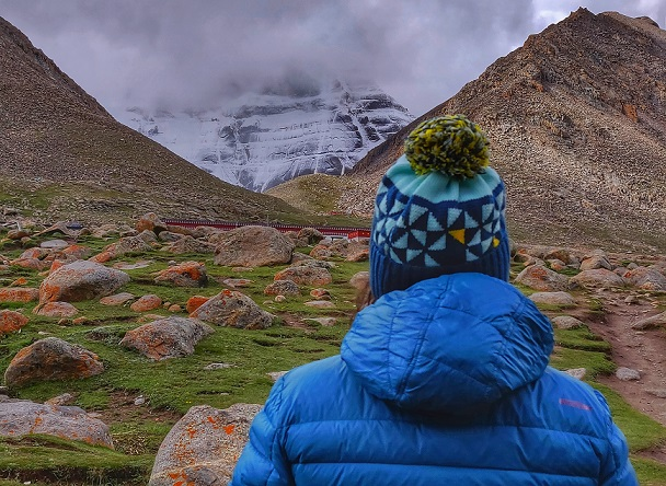 I am looking at North face of Mount Kailash which is said to be an abode of Lord Shiva. Kailash Mansarovar Yatra is said to be a life transformative journey