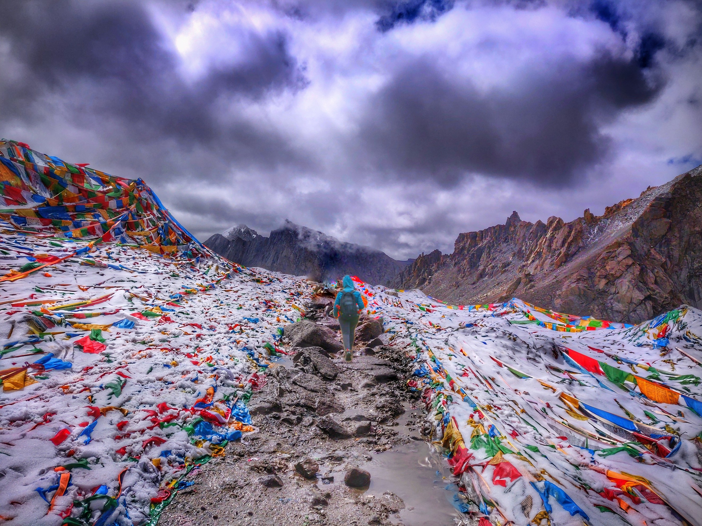 I am at Dolma Pass on Day 2 of Mount Kailash Parikrama