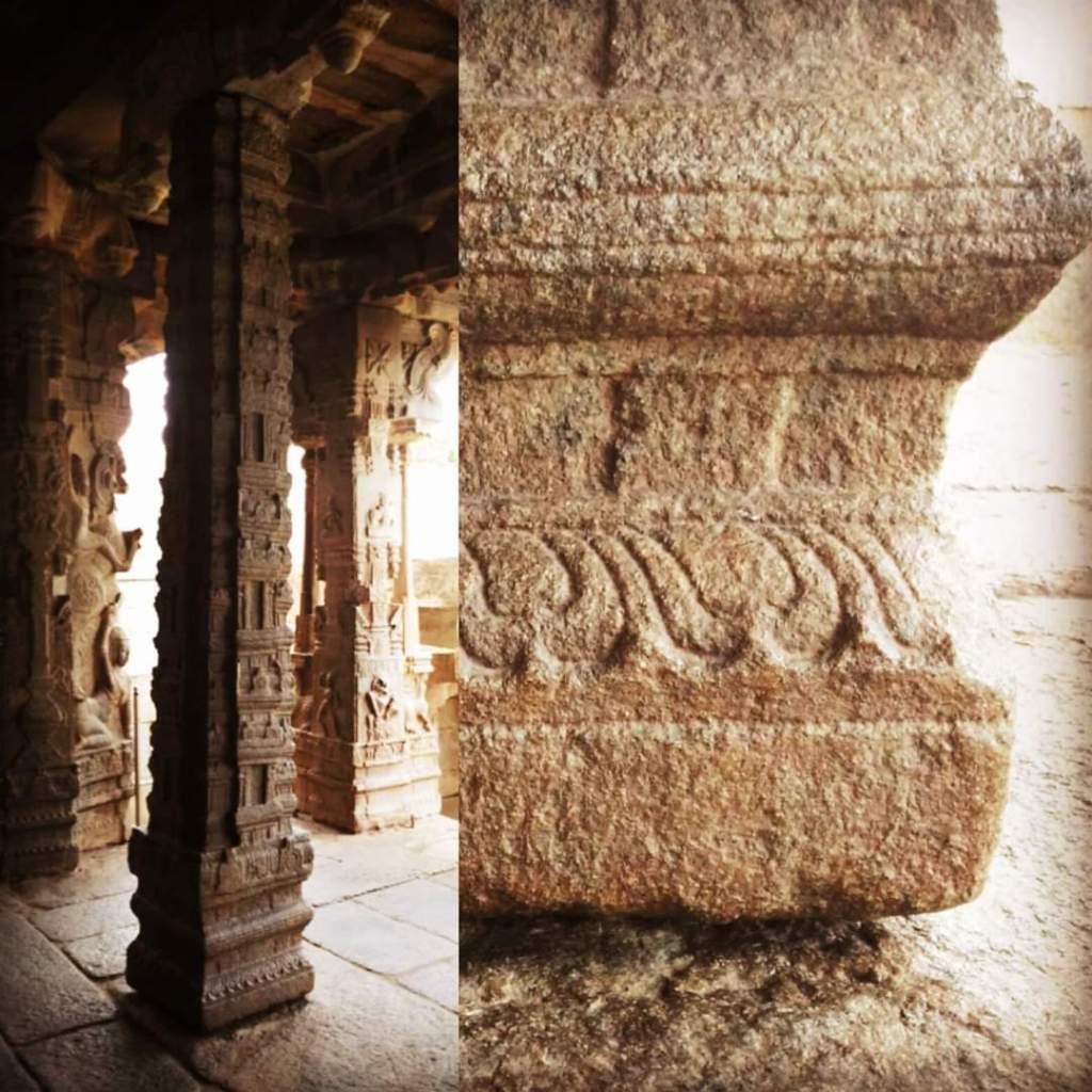 Hanging Pillar of Veerbhadra Lepakshi temple which doesn't touch the ground
