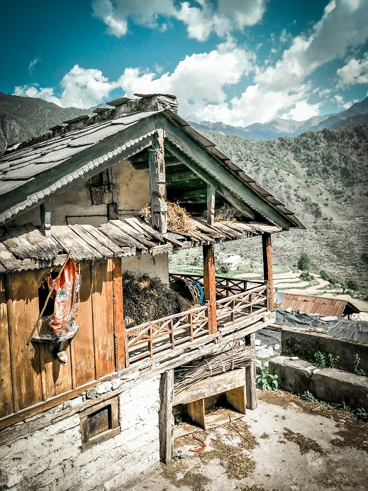 Traditional Houses at Raithal Village of Uttarakhand