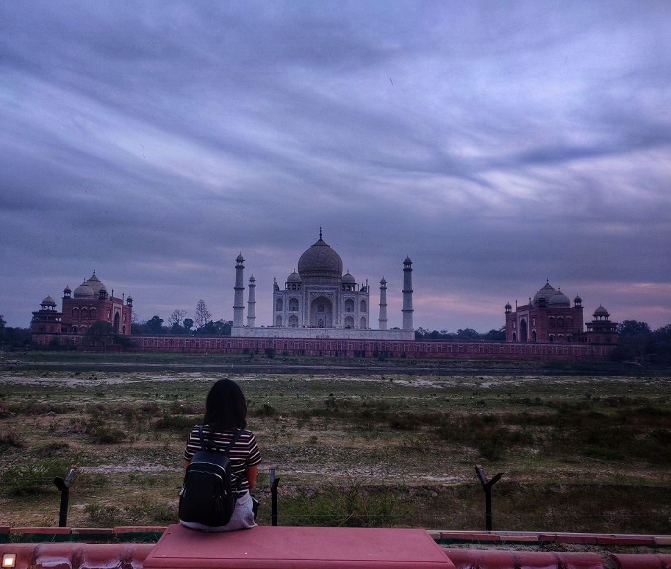 The picture of Taj Mahal from Mehtab Bagh which is an interesting place to visit in Agra