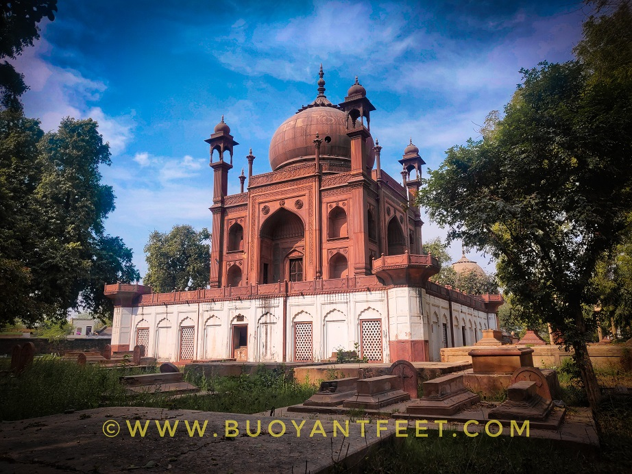 Red Taj, the star attraction of Roman Catholic cemetery