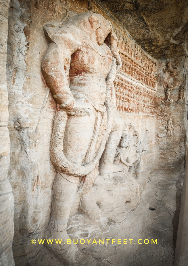 Lord Vishnu in boar avatar at Udayagiri Caves
