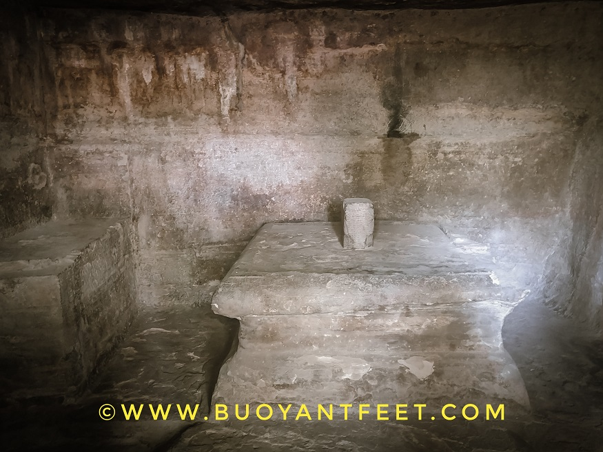 The incomplete shivling in Cave 6