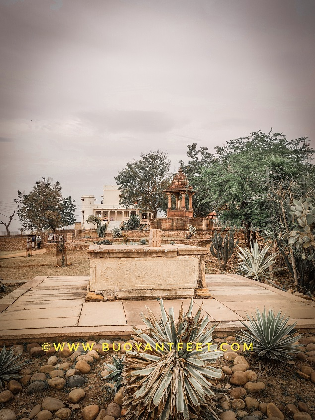 Johar mounment and the cemetery of Baiju Bawra in one frame