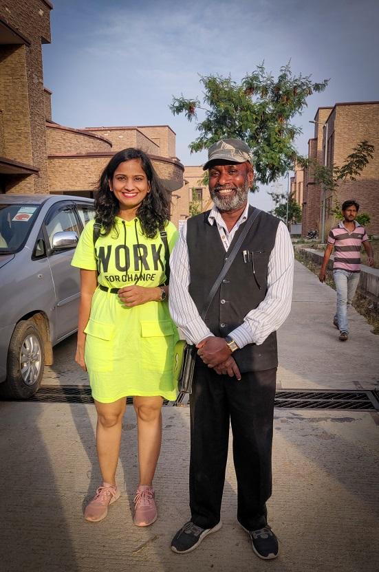 With Kalle Bhai