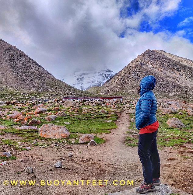 Overlooking at the Lord Shiva's Abode from Deraphuk which is the North Face of Mount Kailash. I took Kailash Mansarovar Yatra in Aug 2018