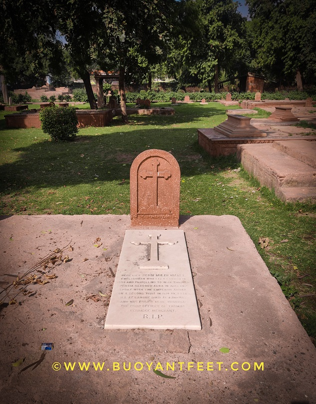 The Grave of JOHN MILDENHALL in roman catholic cemetery of Agra, who the first Englishman to be buried in India