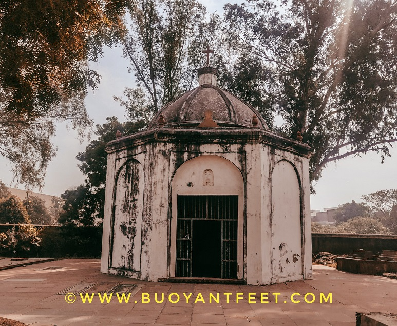 Marty's Chapel inside Agra's Roman Catholic Cemetery
