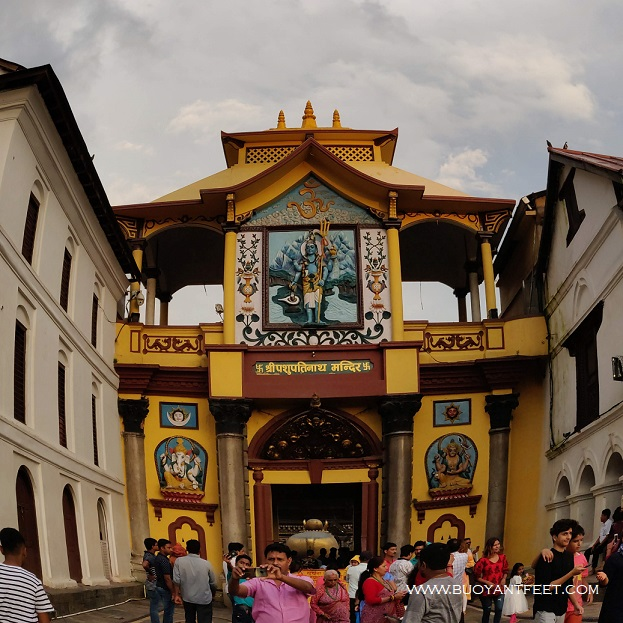 The largest Shiva temple in the Asia: The Pashupatinath temple in Kathmandu valley. Please note that the photography is not allowed inside the complex
