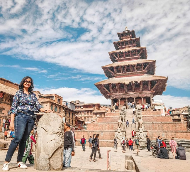 Nyatapola temple is the most instagrammable site within Bhaktapur Durbar Square of Kathmandu