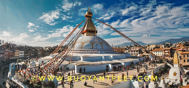 Boudhanath Stupa of Kathmandu is considered to be one of the largest buddhist stupa in Asia region