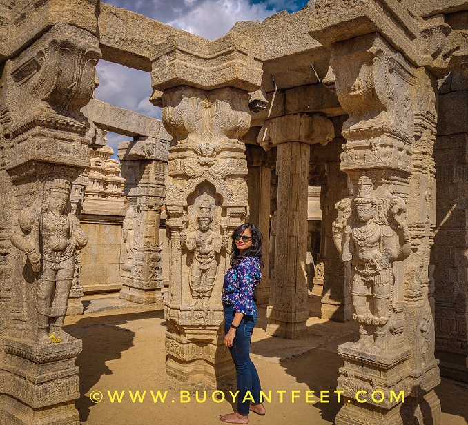 Kalyana Mandapa inside Lepakshi Veerbhadra temple is full of engraved carvings of several gods and saints believed to attend the wedding of Lord Shiva and Parvati